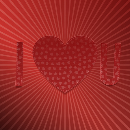 short phrase: I love You. Realistic Valentines Day paper Letters. Vector Illustration