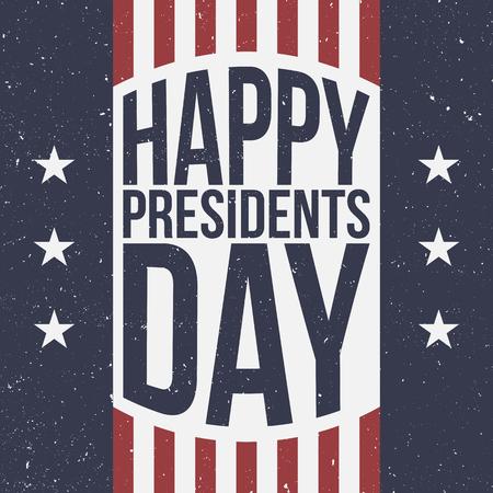 president's: Happy Presidents Day vector patriotic retro Background
