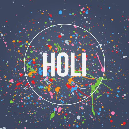 colors paint: Holi Banner for Festival of Colors Celebration with Splashes of Paint