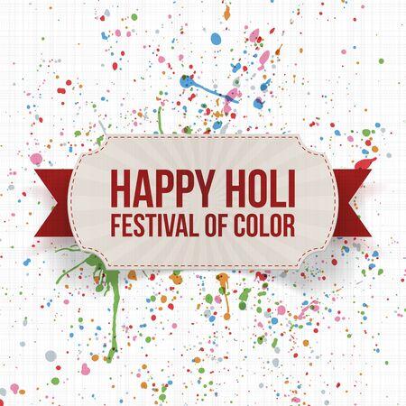 dhulandi: Holi indian Festival Background Template. Vector Illustration