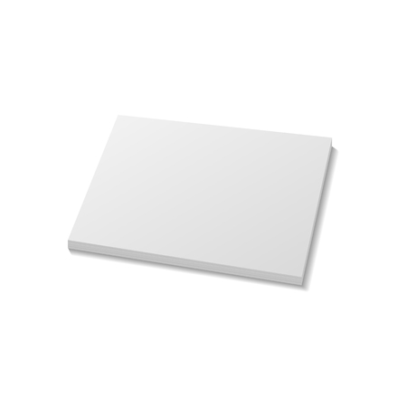 stack of paper: Stack of Paper. Realistic Mockup Template on white Background. Illustration Illustration