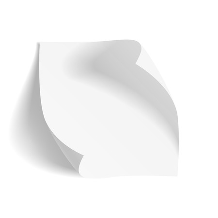 in curved: Curved realistic blank Paper Sheet. Vector Illustration