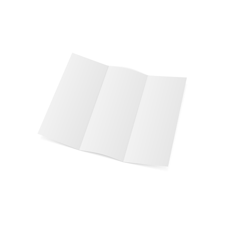 Blank folded realistic A4 Template. Vector Illustration