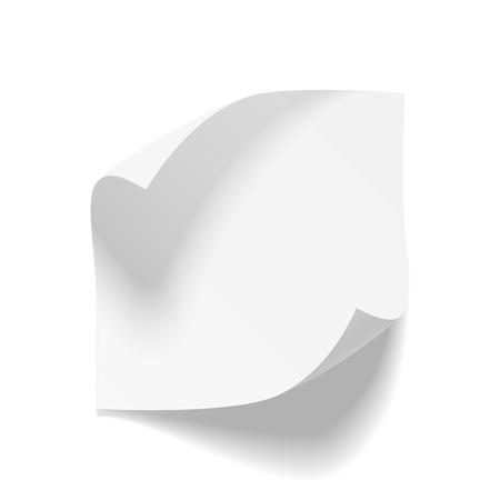 bend: Realistic empty bend paper Sheet. Vector Illustration