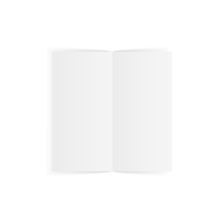 broadsheet: Realistic opened fold Paper Sheet. Vector Illustration