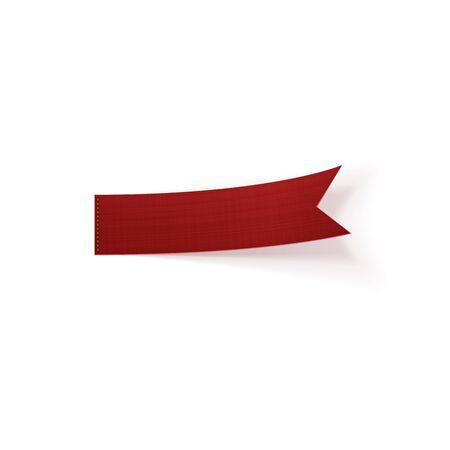 bend: Greeting red bend paper Ribbon. Vector Illustration