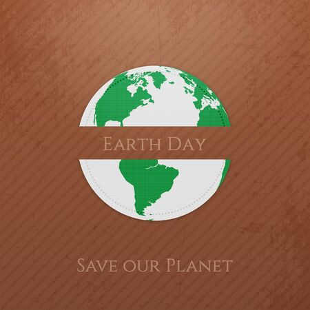 care symbol: Earth Day. Planet realistic Banner. Vector Illustration Illustration