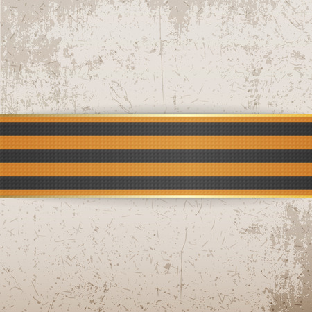 george: Victory Day Symbol -  St. George striped Ribbon. May 9. Vector Illustration