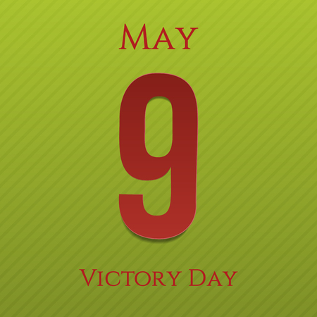 9th: Victory Day May 9th greeting Banner. Vector Illustration