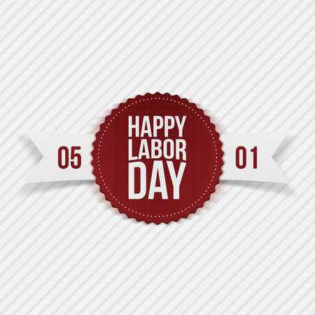 workers rights: International Labor Day May 1st realistic Banner. Vector Illustration