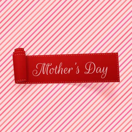 festive: Mothers Day festive scroll Ribbon. Vector Illustration Illustration