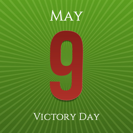 9th: Victory Day May 9th realistic festive Banner. Vector Illustration