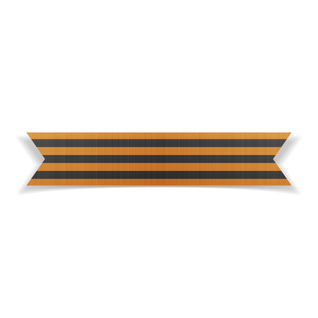 saint george: Victory Day realistic Saint George festive Ribbon. Vector Illustration