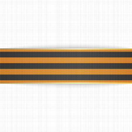 mourn: Victory Day realistic St. George festive Ribbon. Vector Illustration