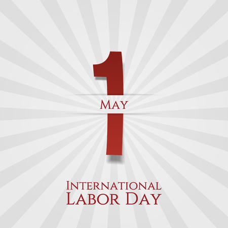 work worker workforce world: International Labor Day May 1st greeting Poster. Vector Illustration Illustration