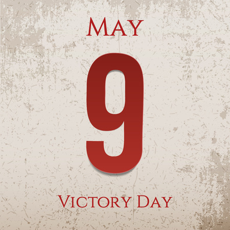 9th: Victory Day May 9th realistic festive Label. Vector Illustration Illustration