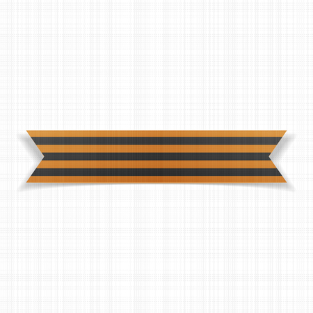 saint george: Victory Day realistic Saint George striped Ribbon. Vector Illustration