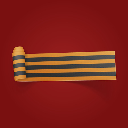saint george: Victory Day Saint George festive scroll Ribbon