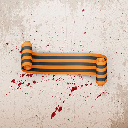 george: Victory Day realistic scroll st. George Ribbon. Vector Illustration