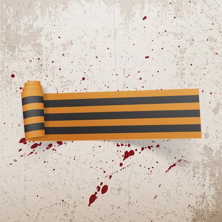 george: Victory Day Saint George textile scroll Ribbon. Vector Illustration Illustration