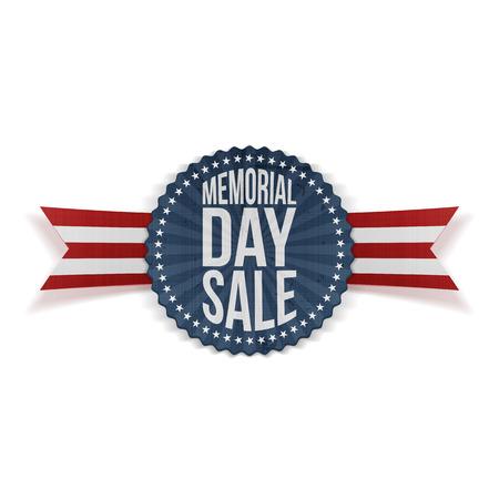 Memorial Day Sale pattic Banner met tekst en Shadow. vector Illustration Vector Illustratie