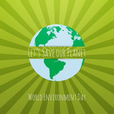 environmental awareness: World Environment Day awareness Concept Template. Vector Illustration. Illustration