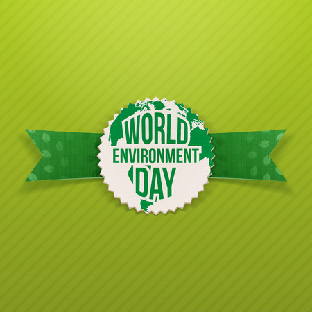 environmental awareness: World Environment Day festive Banner Template. Vector Illustration Illustration