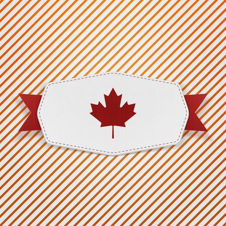 north american: Canada Flag symbol realistic Tag. Vector Illustration