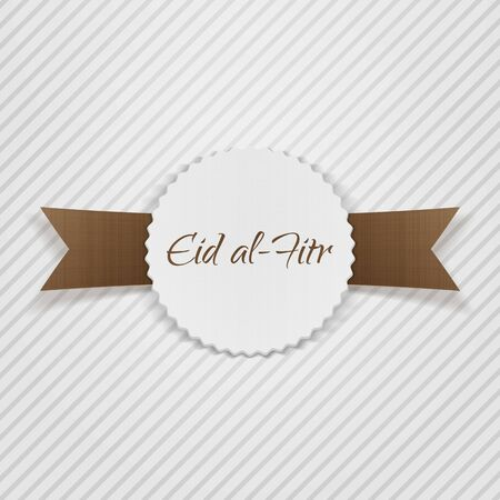 paper tag: Eid al-Fitr greeting paper Tag. Vector Illustration Illustration