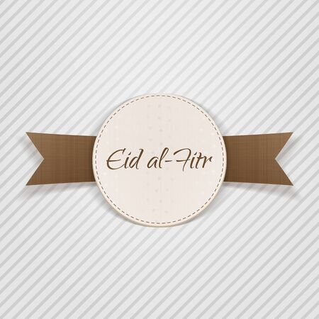 paper tag: Eid al-Fitr paper Design Element. Vector Illustration Illustration