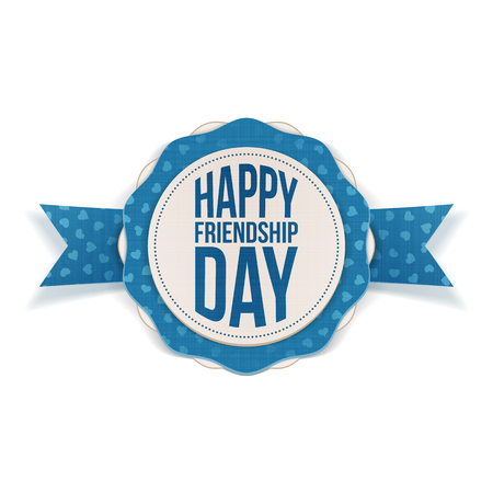 friendship day: Happy Friendship Day realistic Banner. Vector Illustration