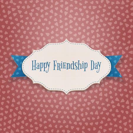 friendship day: Happy Friendship Day Holiday Emblem. Vector Illustration