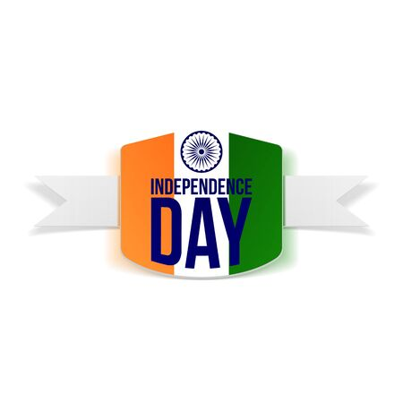 Indian Independence Day Banner with Shadow. Vector Illustration Illustration