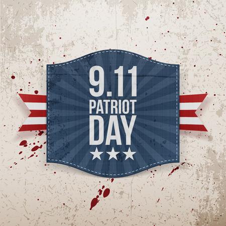 eleventh: Eleventh September Patriot Day national Tag. Vector Illustration