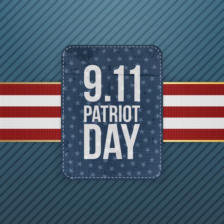 patriot: Patriot Day festive paper Emblem. Vector Illustration