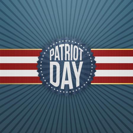 patriot: Patriot Day paper festive Badge. Vector Illustration