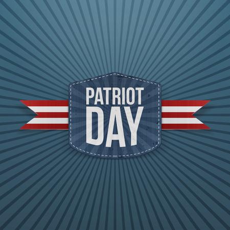 patriot: Patriot Day realistic Badge with Ribbon. Vector Illustration Illustration