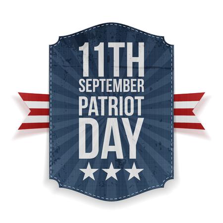 patriot: September 11th Patriot Day paper Banner. Vector Illustration Illustration
