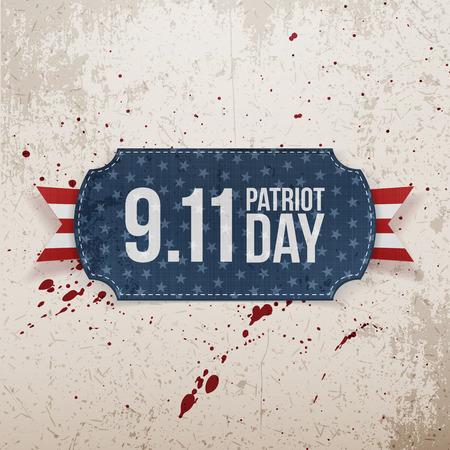 patriot: Patriot Day 9-11 realistic Tag. Vector Illustration