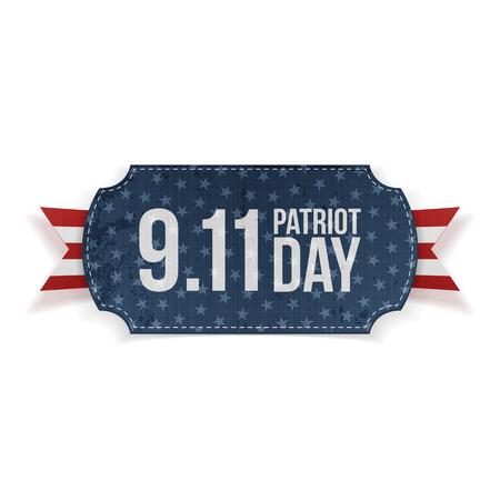 patriot: Patriot Day 9-11 realistic Banner. Vector Illustration