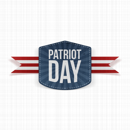 patriot: Patriot Day realistic Label with Ribbon. Vector Illustration