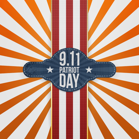patriot: Patriot Day 9-11 realistic patriotic Badge Template
