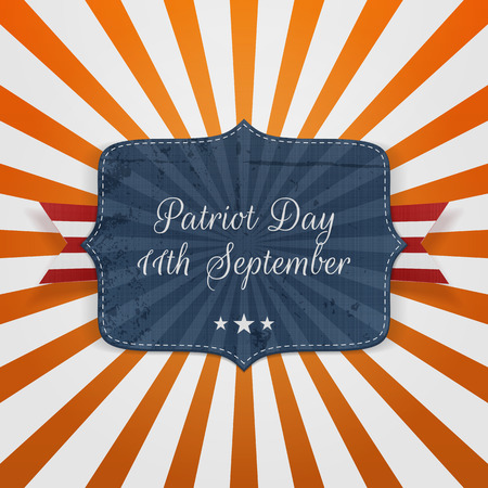 11th: Patriot Day 11th September Badge with Ribbon