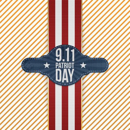 patriot: Patriot Day 9-11 realistic patriotic Emblem Template