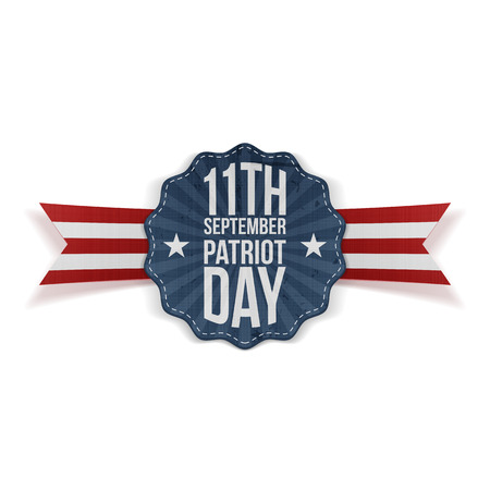 september: Patriot Day 11th September Banner. Vector Illustration