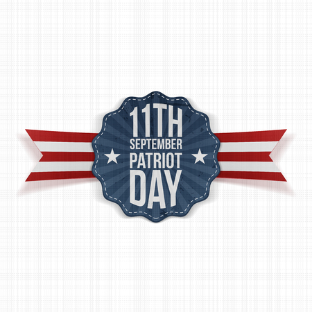 11th: Patriot Day 11th September Label. Vector Illustration