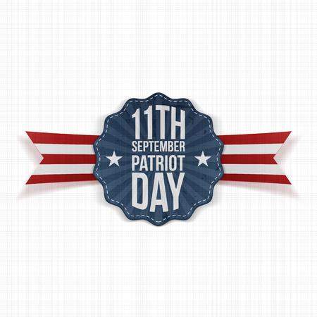 patriot: Patriot Day 11th September Label. Vector Illustration