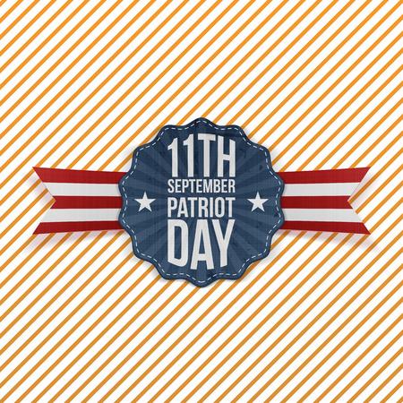 september: Patriot Day 11th September Emblem. Vector Illustration