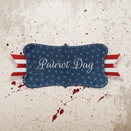 patriot: Patriot Day Festive Banner on grunge Background. Vector Illustration Illustration