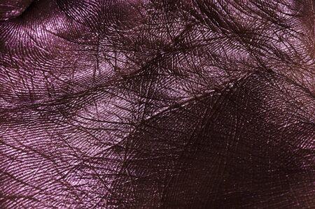 creasy: Dark purple creasy Palm Skin Surface Stock Photo